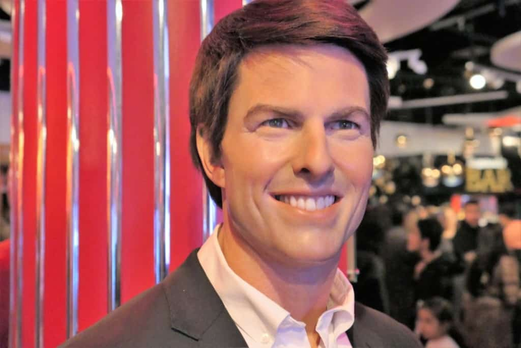 A wax figure of Tom Cruise displayed in Madame Tussauds in London