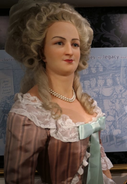 A wax figure of Marie Antoinette displayed in Madame Tussauds in London