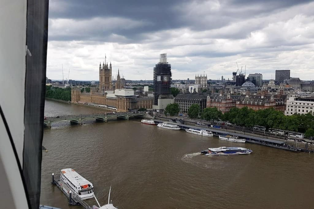 Parliament and Big Ben from the London Eye