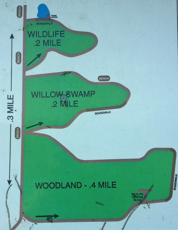 Old Hickory Trail - map of the trail