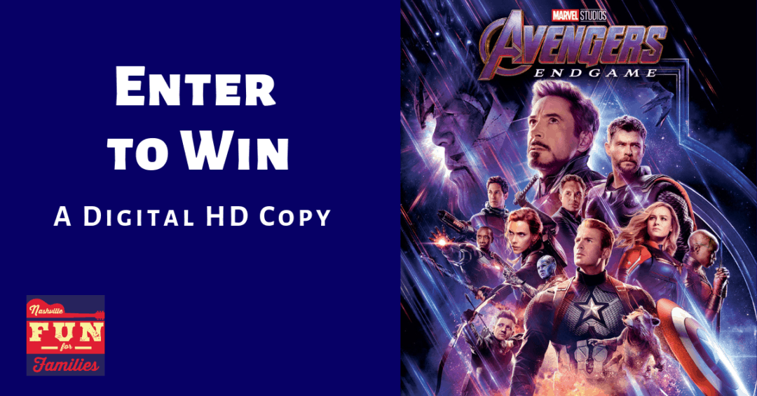 Enter to win a digital HD copy of Avengers Endgame