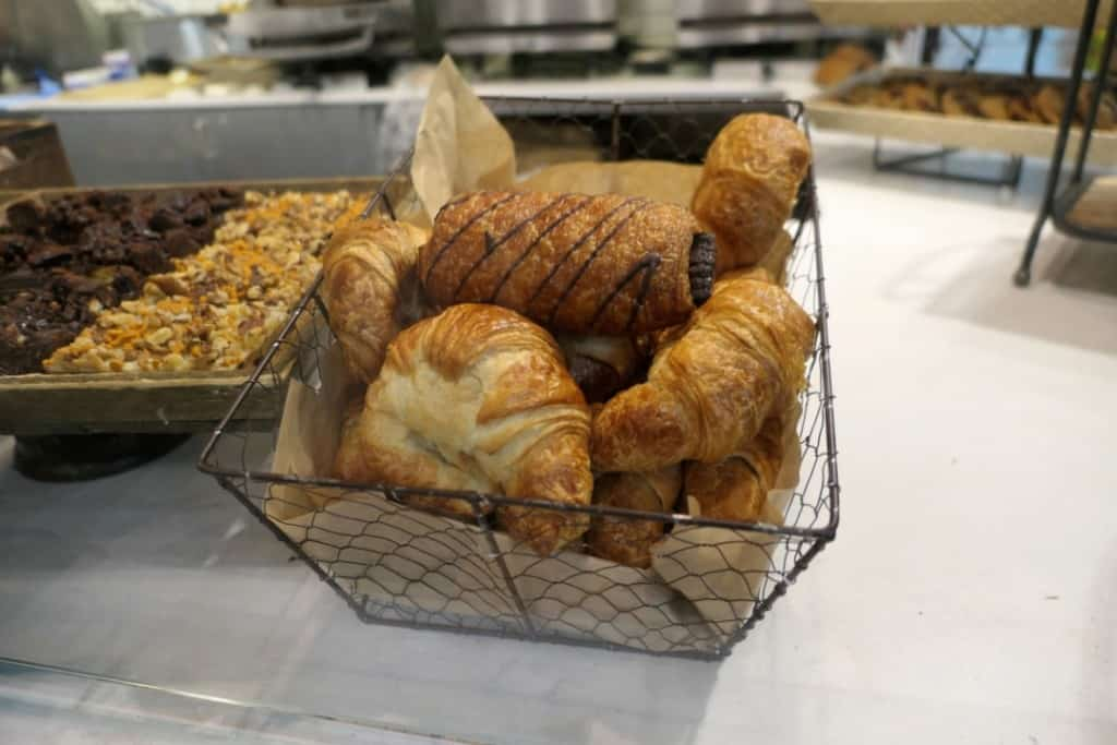 Croissants for sale at the Delta Marketplace.