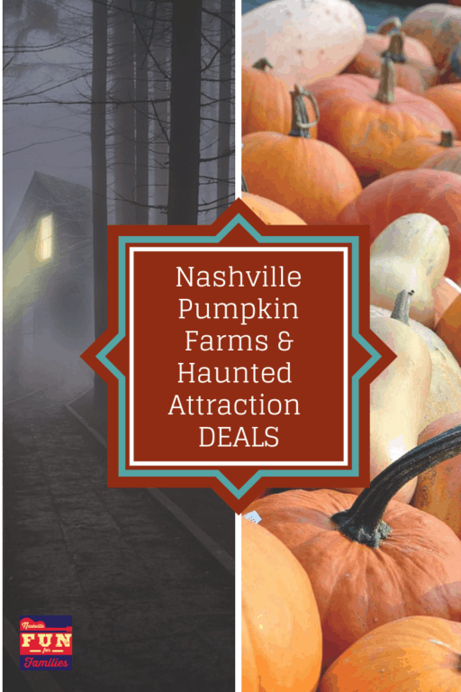 Nashville Tennessee area deals on Pumpkin Farms and Haunted Attractions