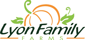 Lyon Family Farms logo with a pumpkin