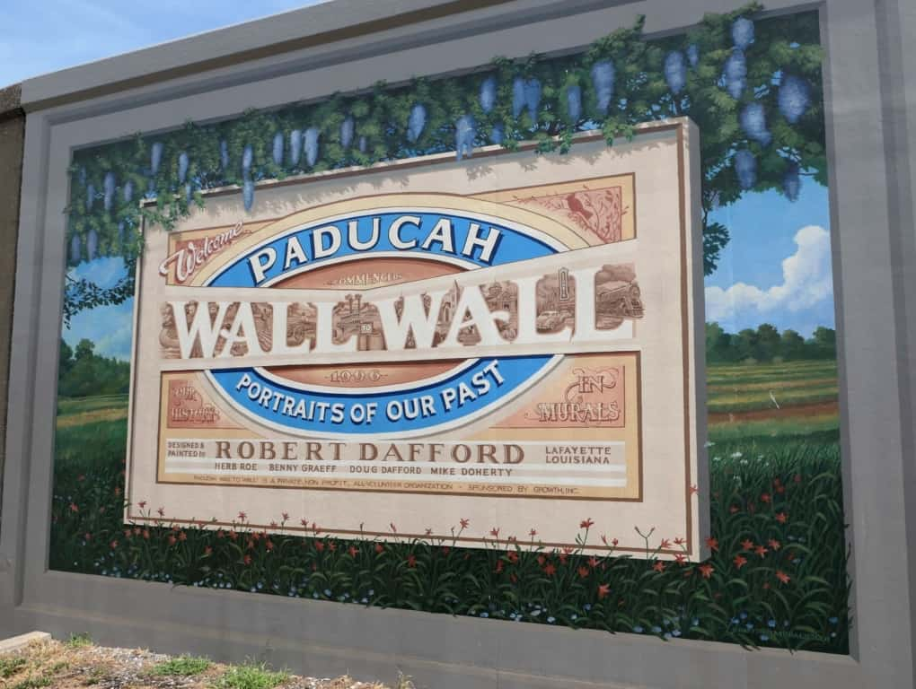 Paducah Wall to Wall Portraits of Our Past mural image.