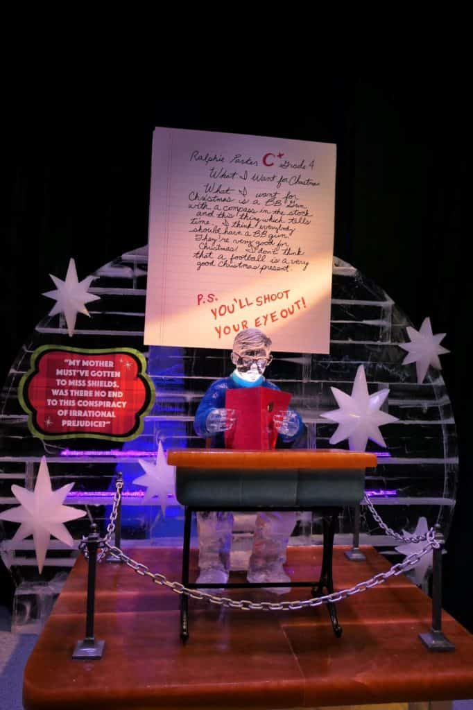 Ralphie writing a letter in the 2019 ICE display