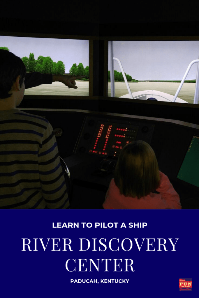 Learn to pilot a ship on the Simulator at the River Discovery Center in Paducah, Kentucky.