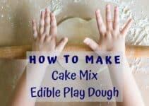 Cake Mix Edible Play Dough