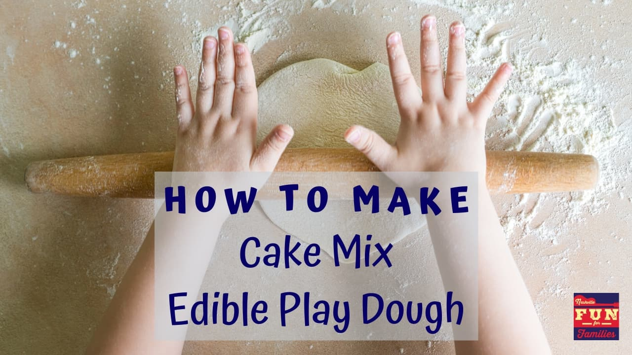 How to Make Cake Mix edible play dough