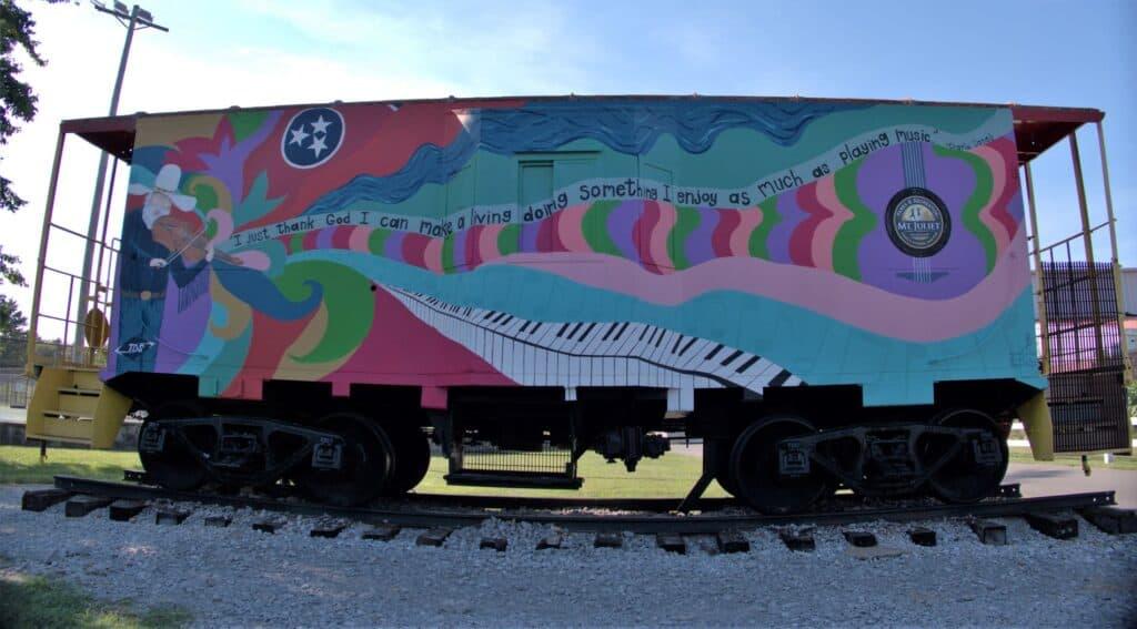 Charlie Daniels Caboose Mural