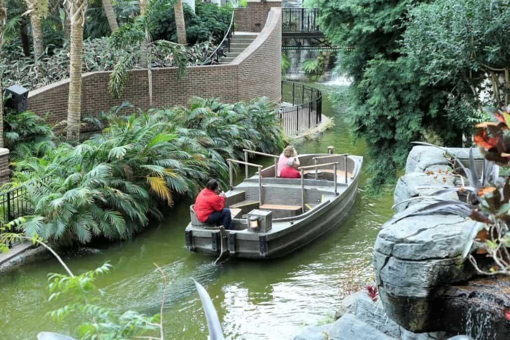 View of the Delta River Boat inside the Delta Atrium.