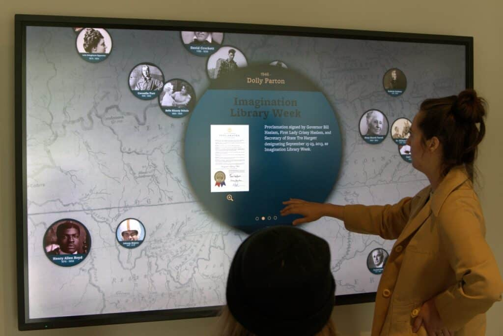 Interactive exhibit of notable Tennesseans