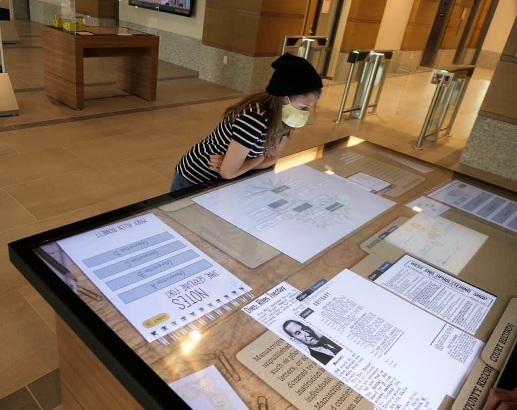 Tennessee State Library genealogy exhibit