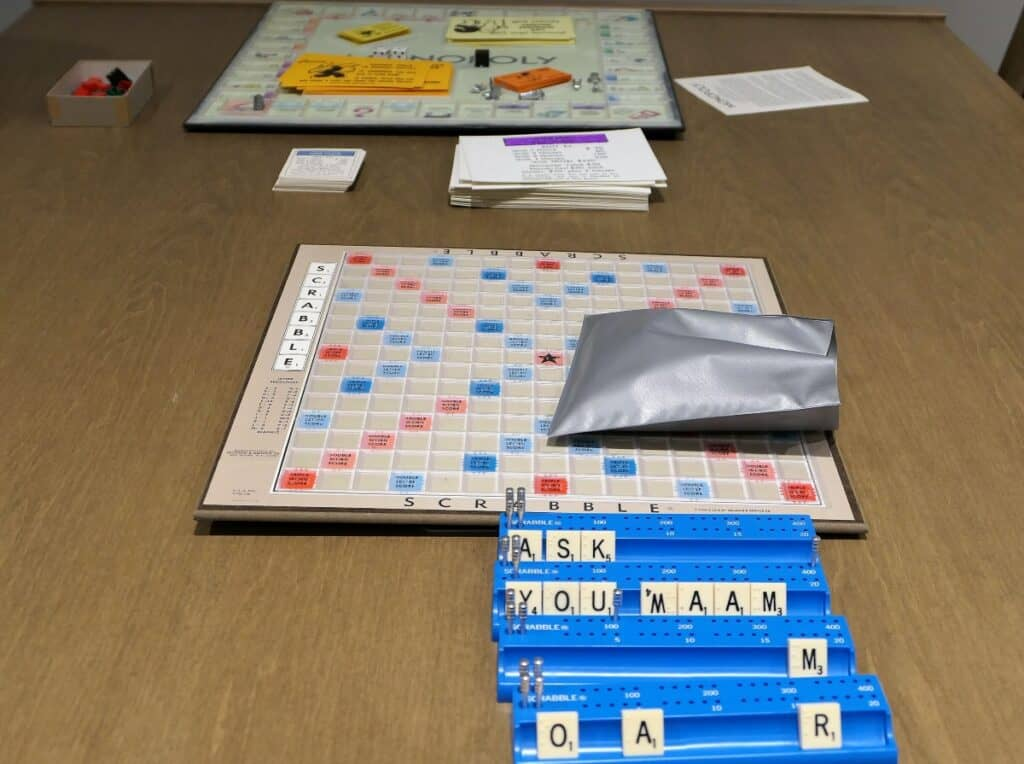 Accessible games including scrabble