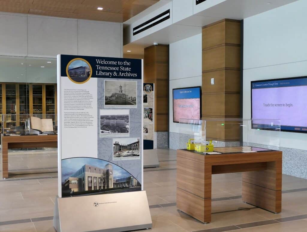 Tennessee State Library lobby exhibits