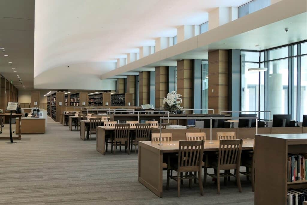Tennessee State library reading room